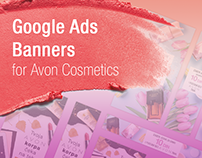 Google Ads Banners for Avon Cosmetics