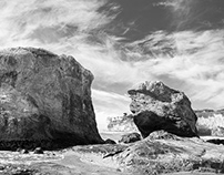 Big Rocks in Black & White
