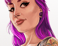Suicide girls fan art.