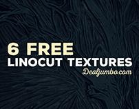 6 Free Linocut Textures