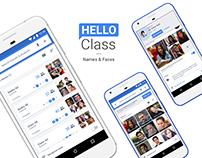 Hello Class — Names & Faces