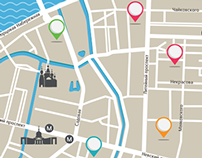 "St petersburg tourist map - project ""My City"""