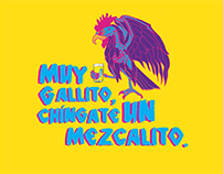Lettering Muy Gallito.