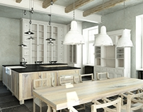 Rustical kitchen visualisation