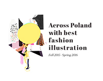Fashion illustration exhibition - identity & web design