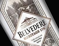 Belvedere Heritage 176 Label Rendered by Steven Noble