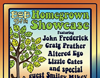 Homegrown Showcase Event Logo and Flyer