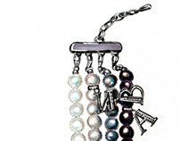 Jewelery sketch for Lerian Pearls
