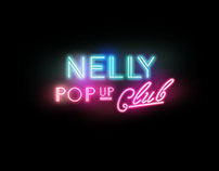 Graphic Branding @nelly.com PopUp Club