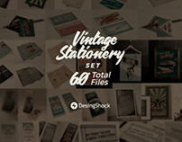 Free Vintage Stationery PSD & AI Template Set