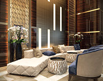 Commercial Interior Design Rendering for Hotel Project