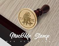 Mockup Wax Seal stamp DG - DMR studios