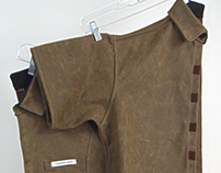 Garment: Detachable Shirt in Waxed Denim