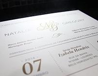 Convite de Casamento - Natália & Gregory