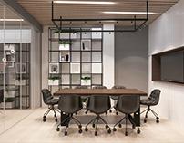 INTERIOR DESIGN office of a construction company