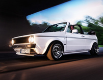 VW Golf MK1 Cabrio - automotive photography