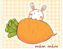 """Miam Miam"" Notebook cover"
