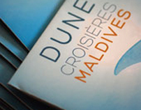 Brochure for a diving club : Dune Maldives