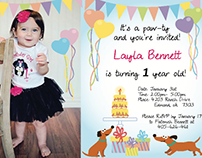 Layla Birthday Invite