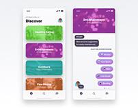 Card design interactions using #invisionstudio