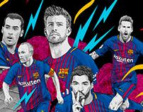 Illustrations for FC Barcelona Merchandising