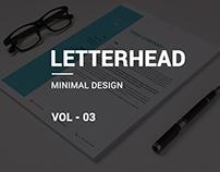 Minimal letterhead vol-03