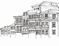 Urban Sketch: Ribeira do Porto