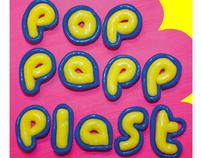 Pop papp plast - Informative typographic poster