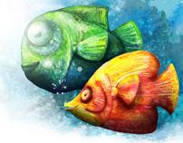 Watercolor & Photoshop — illustrations