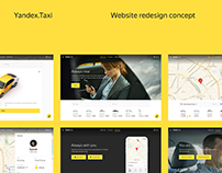 Yandex.Taxi Website Redesign Concept