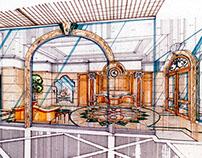 90s interior design - Hotel & Restaurant