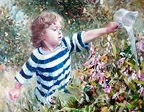 Портрет девочки в саду