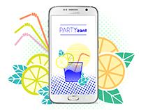 PARTYzant - mobile app design