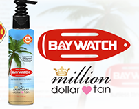 Label Design: Baywatch Sunless Tanning Lotion