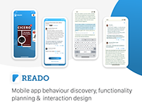 Reado - mobile app interaction design