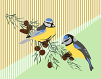 "Illustration ""Two Birds in harmonie"""
