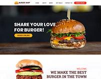 Burger Shop Web Design Template