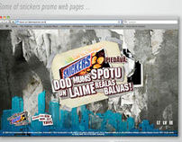 SNICKERS promo web page designs