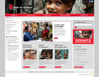 Website design for Save the children, india.