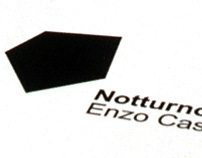 """E. Castagno Exhibit """"Notturno"""" - Invitation Card"""