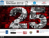 Website design for IIM Lucknow Manfest 2012
