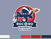 Roc & Ro Sushi-on-the-Go Food Truck Logo