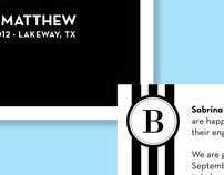 Wedding Invitations, Postcards and Logo
