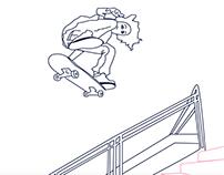 Skateboarding Makes Me Happy Inside