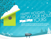 """Happy Holidays"" E-card/Topper"