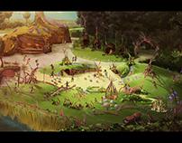 Artist impressions Village Nature Disney Parijs
