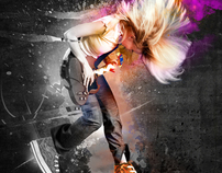 Girl Converse Design - Photoshop Cool Backgrounds