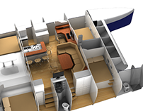 Interior Design for 46 ft. catamaran