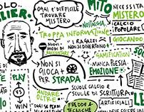 """""""Parole Nel Pallone"""" Bologna 2016 - Graphic Recording"""