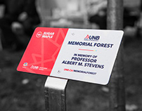 UNB Memorial Forest: Plaques and Print Collateral